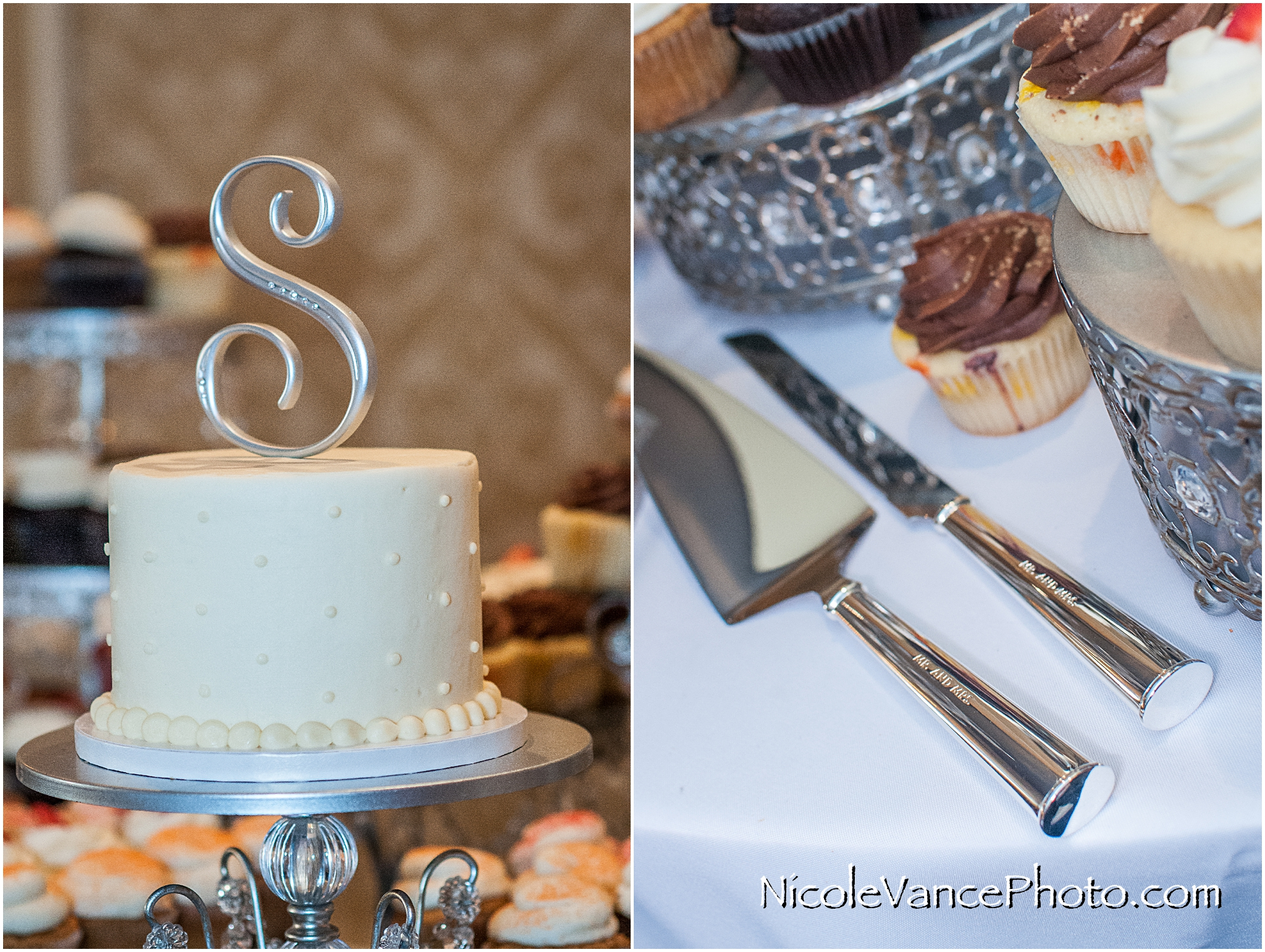 Wedding cake by Pearl's and Mr & Mrs Cake utensils.