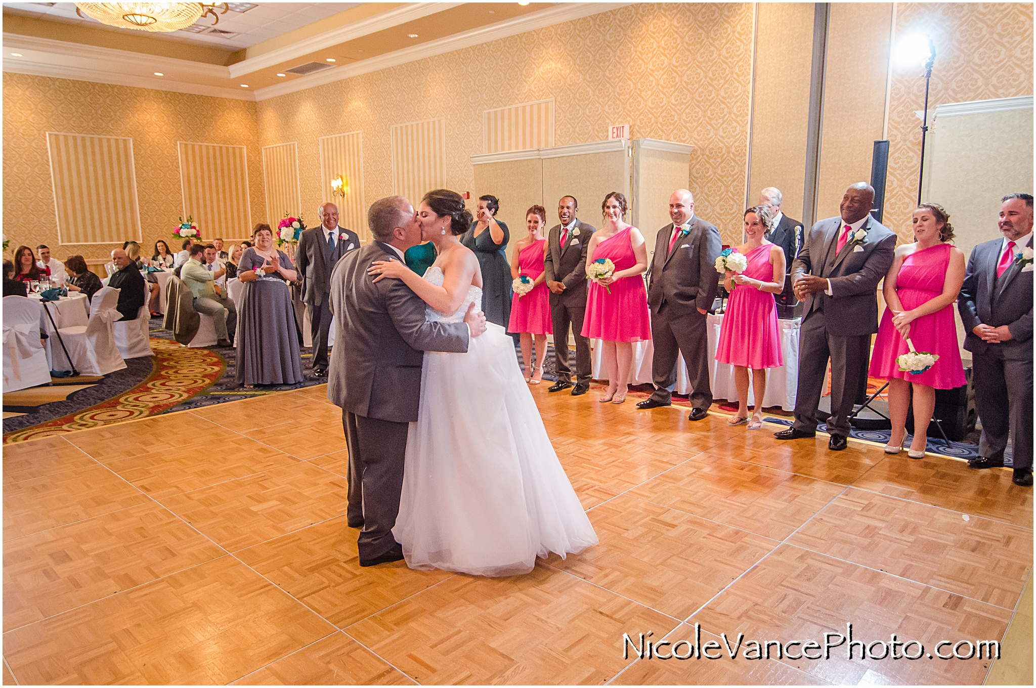 First Dance in the ballroom at Virginia Crossings.