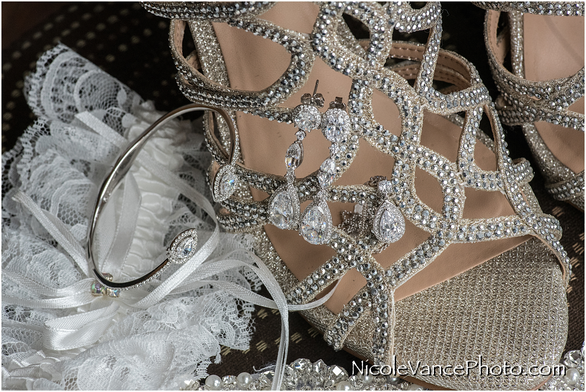 The bridal jewelry all matched perfectly!