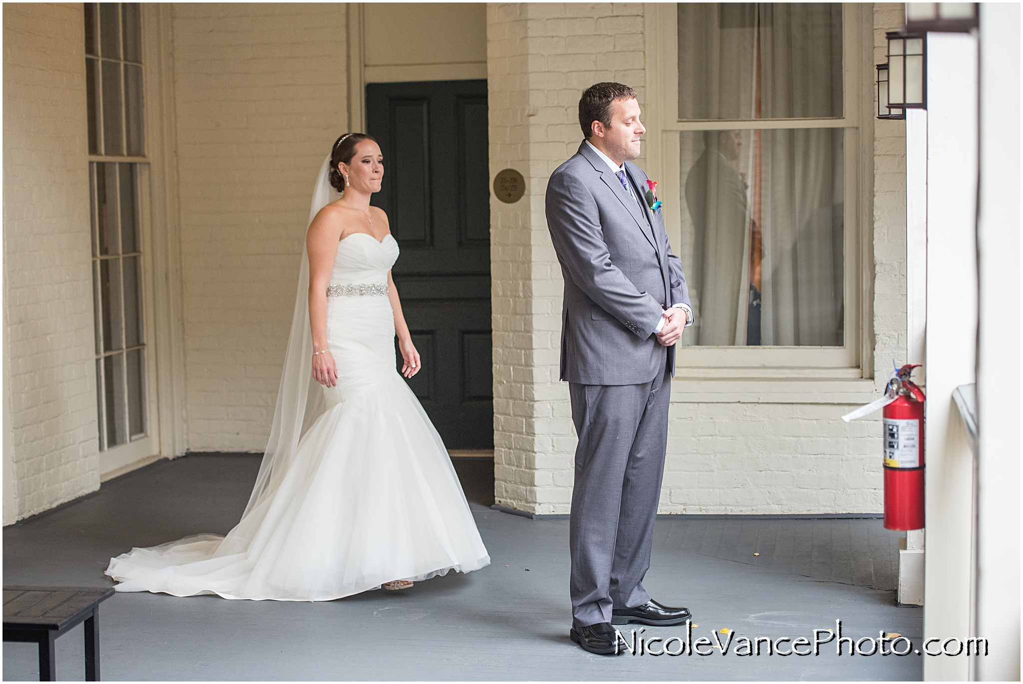 It was an emotional first look!
