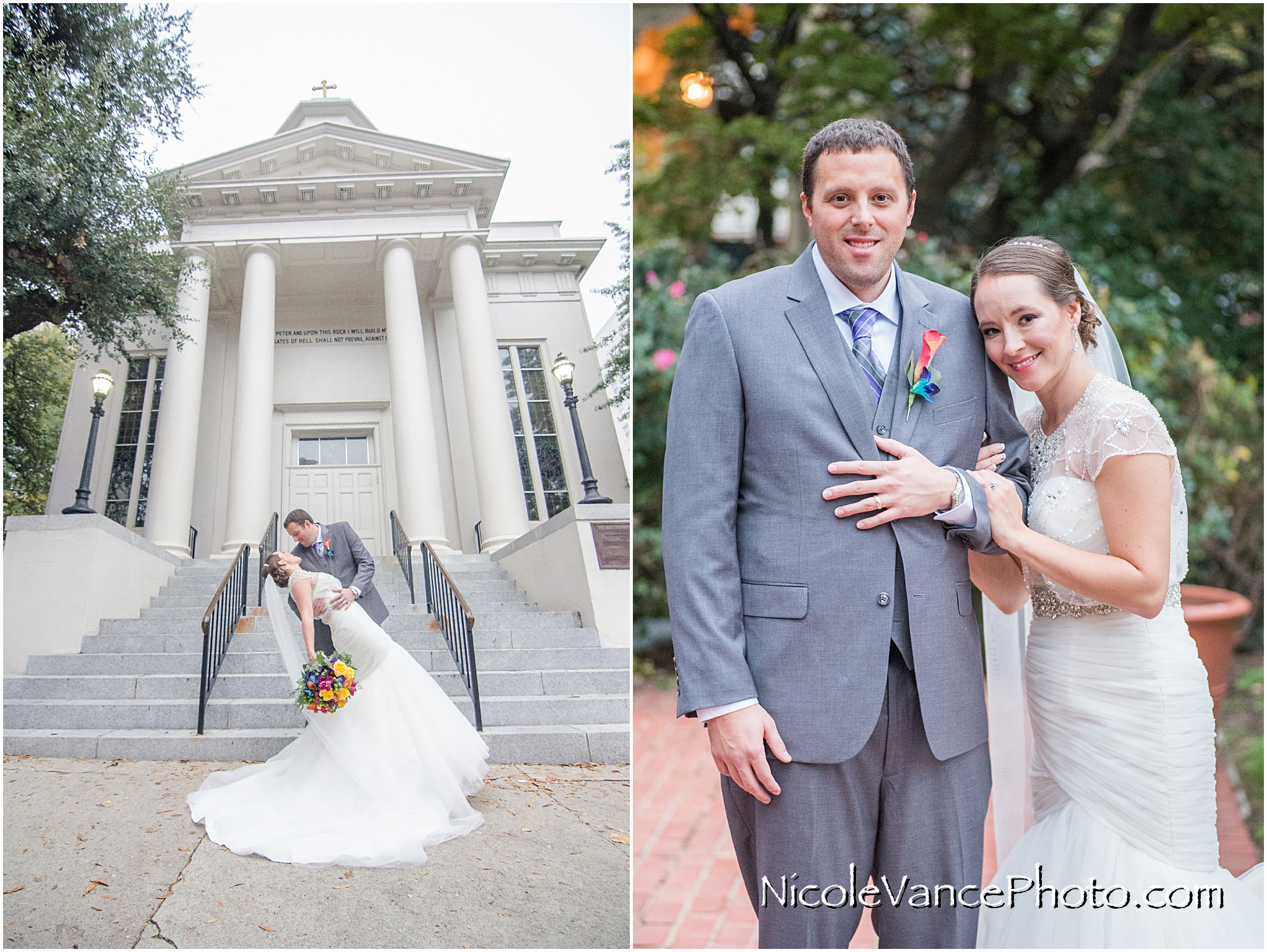 Portraits in from of St. Peter's Church in Richmond Virginia.