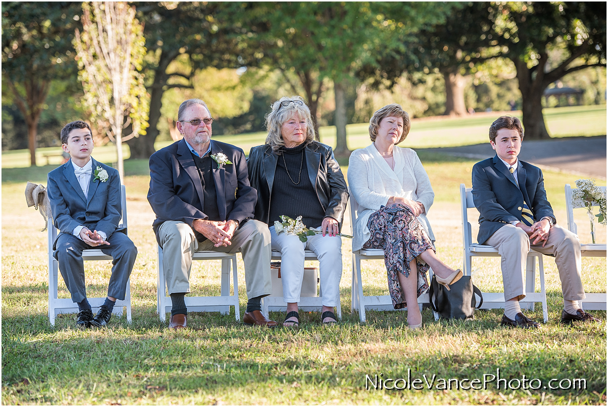 Guests enjoy the ceremony at Maymont Park in Richmond Virginia.