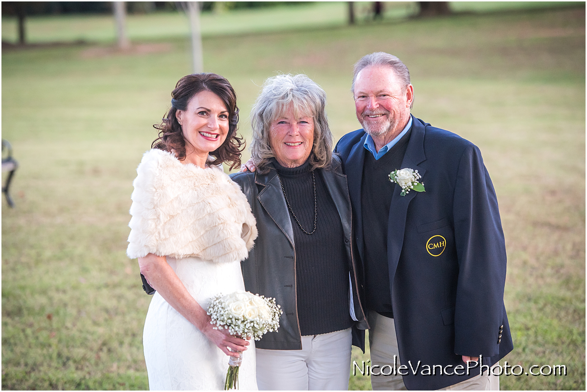 The bride poses with one of her closest friends after the ceremony at Maymont Park.