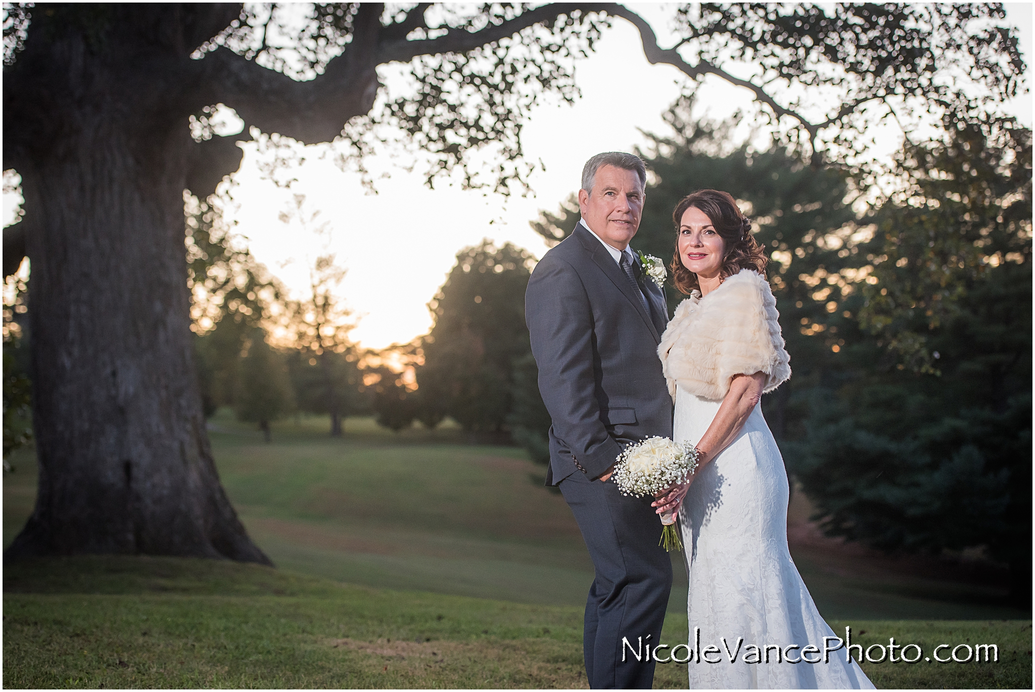 Bride and Groom portraits at Maymont Park.